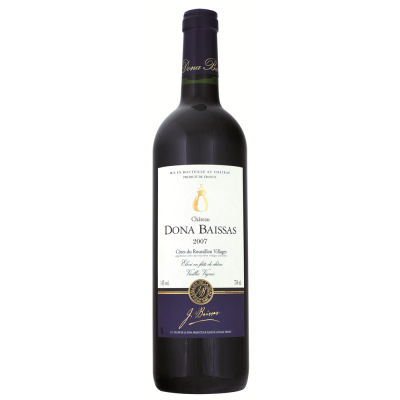 Côtes du Roussillon Villages Rouge « Elevé en fûts de chêne - Vieilles Vignes » 2014 Ch. Dona Baissas