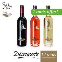 Abonnement Découverte 3 bouteilles 75cl / 12 mois (+ 1 mois offert)