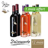 Abonnement Découverte 6 bouteilles 75cl / 12 mois (+ 1 mois offert)