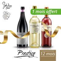 Abonnement Prestige 3 bouteilles 75cl / 12 mois (+ 1 mois offert)