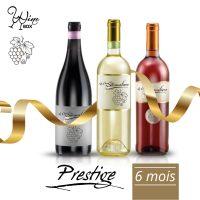 Abonnement Prestige 3 bouteilles 75cl / 6 mois
