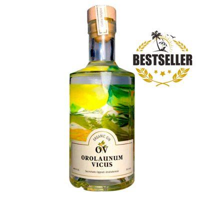"""Gin OV """" Orolaunum Vicus """" Organic Gin Distilled in Belgium (50 cl)"""
