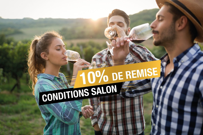 Conditions SALON ! Remise de 10% du 14 au 24 Octobre