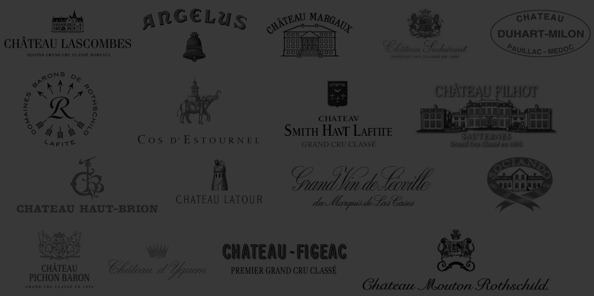 Grands Crus Classés de Bordeaux de 1969 à 2017