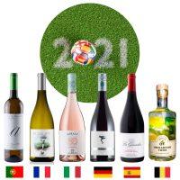 Box 6 bouteilles à déguster devant l'Euro 2021